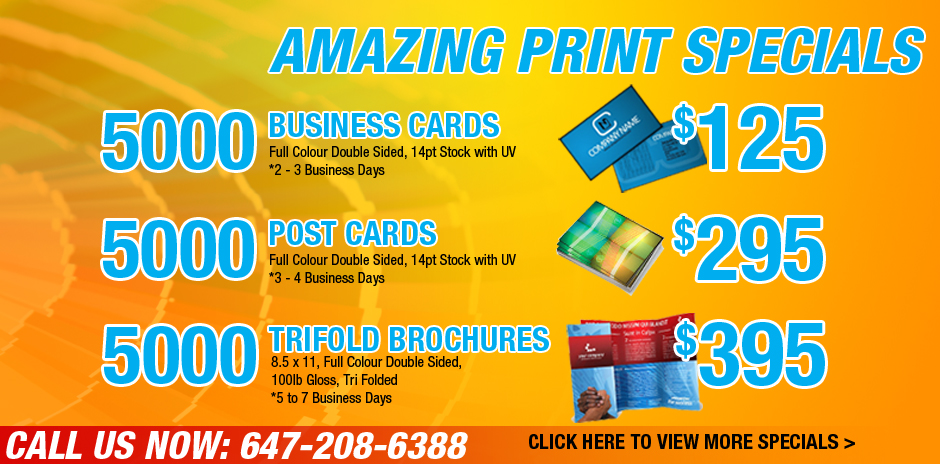 Mississauga and Toronto Business Cards